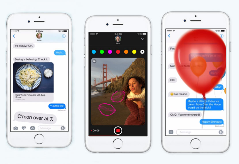 Video: updated iMessage in iOS 10 in action
