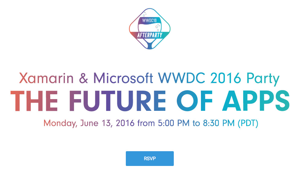 "Microsoft invites iOS developers at the ""after party"" after WWDC 2016"