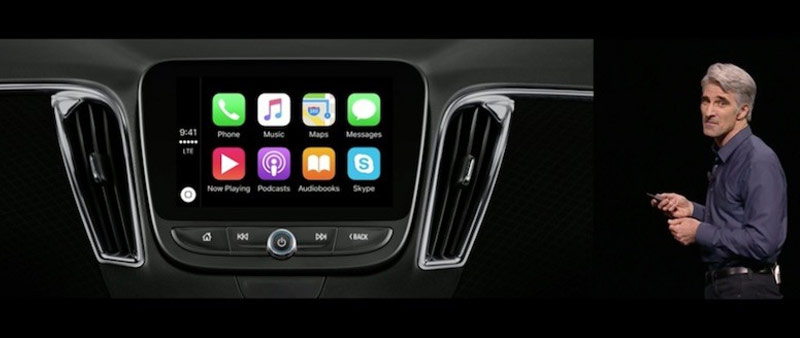 Apple CarPlay in iOS 10: to sort the applications, new design Apple Music, alternative routes