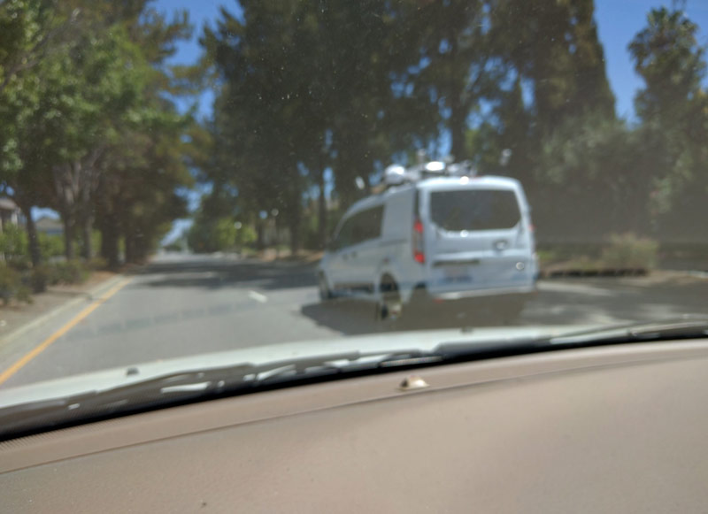 """On the streets of San Francisco noted, """"self-driving car Apple"""