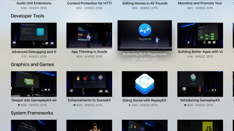 Apple updates WWDC app for iOS and released a version for Apple TV