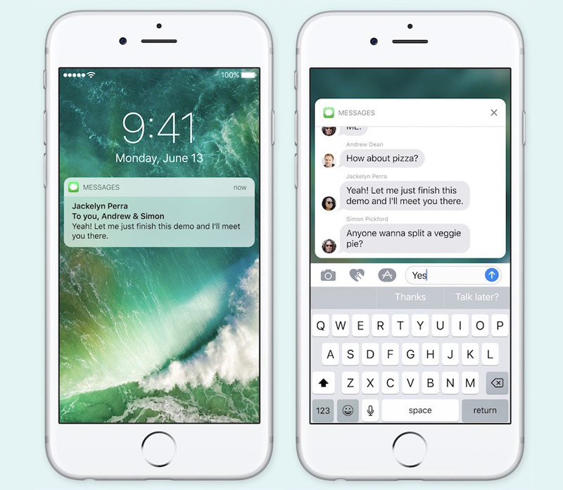 Apple has confirmed that interactive notifications in iOS 10 will appear on devices without a 3D Touch
