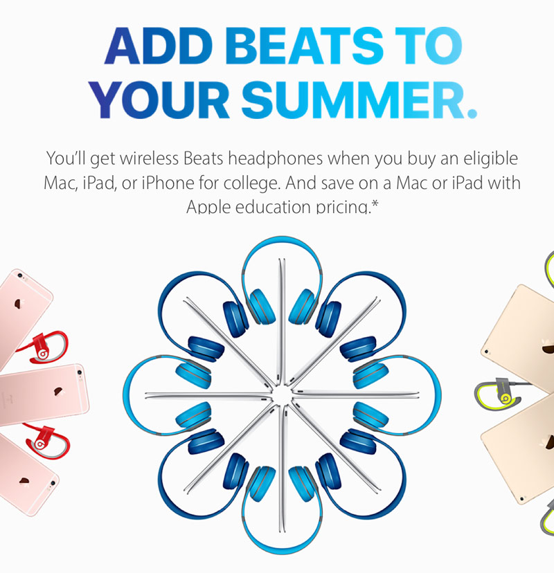 Apple launched a Back To School promotion: buy a Mac and get a Beats headphones for 24 000 rubles