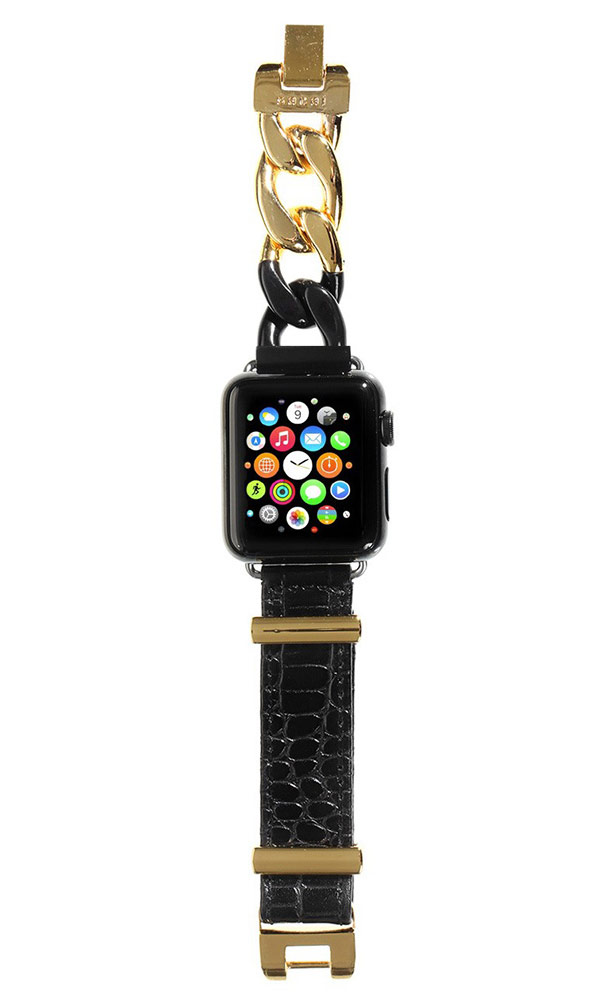Sacai for Apple Watch: the Japanese brand has released a collection of bracelets made of leather and steel.