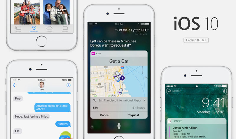 iOS 10 officially presented: new function, features, timing of release