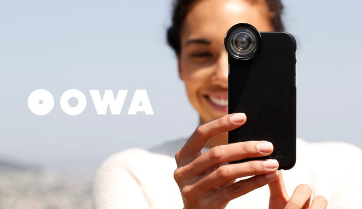 OOWA presented a case for the iPhone 6s and 6s Plus set of interchangeable lenses