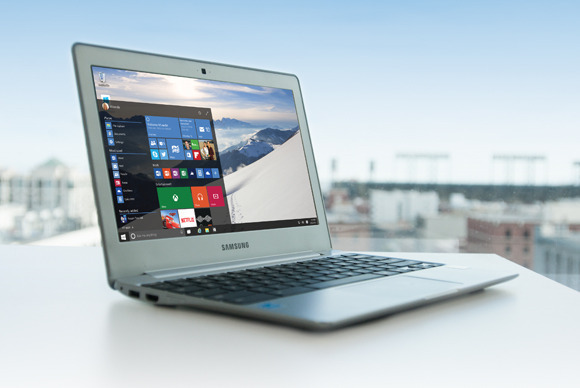 Samsung does not recommend users their laptops to install Windows 10