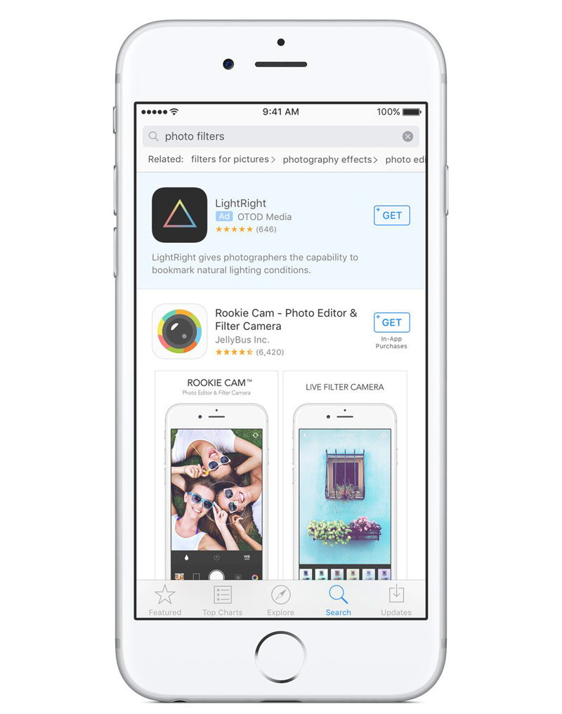 Apple to embed ads in an App Store search and will change the distribution of profits for subscriptions in favor of developers