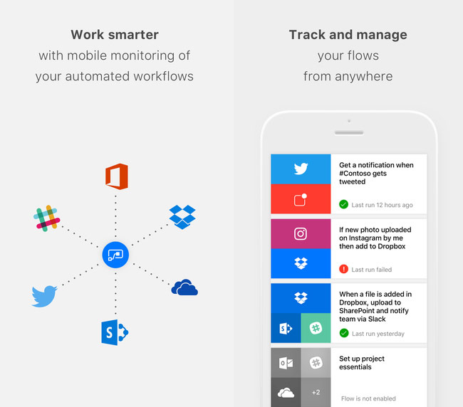 Microsoft introduced its own analogue of the IFTTT app Flow