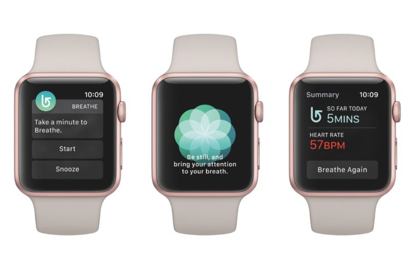 How does the new app Breathe watchOS 3