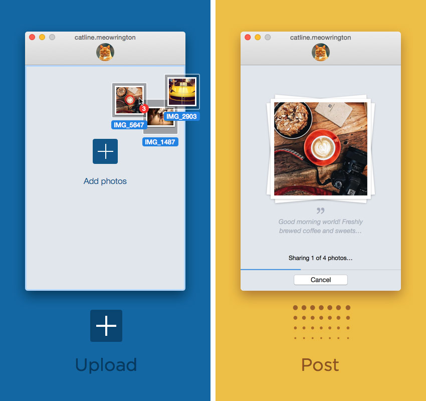 Uplet: a utility for uploading photos to Instagram from computer [+5 promo]