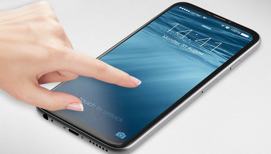 """iPhone 2017 will receive the display """"edge to edge"""" with a built-in scanner Touch ID"""