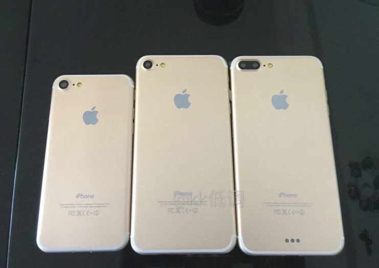 """All three new iPhone filmed on the """"family photo"""""""