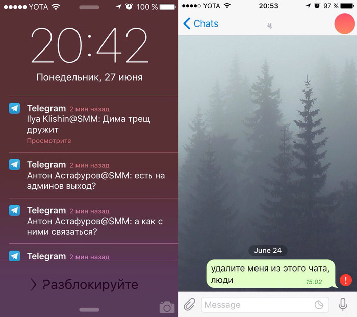 "A bug in the Telegram allowed the Muscovite to quietly read the correspondence of TV channel ""Rain"" [video]"