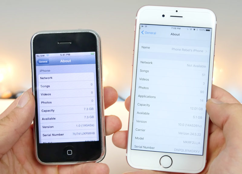 iPhone OS 1.0 vs iOS 10.0: what has changed in 9 years [video]