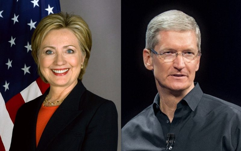 Tim cook is raising money for the election campaign of Hillary Clinton