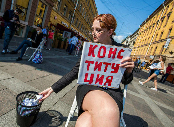 """In St. Petersburg hosted a rally against the """"law of Spring [photo]"""