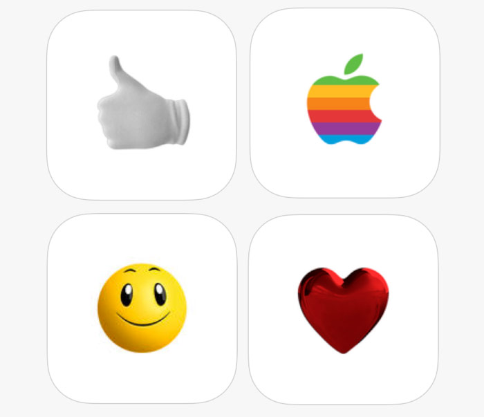 Apple has released 4 set of branded stickers for iMessage in iOS 10