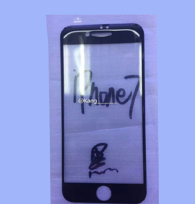 The Network got photos of the front panel of the iPhone 7 with dual proximity sensor and larger earpiece