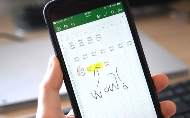 Microsoft Office for iPhone has received support handwritten notes