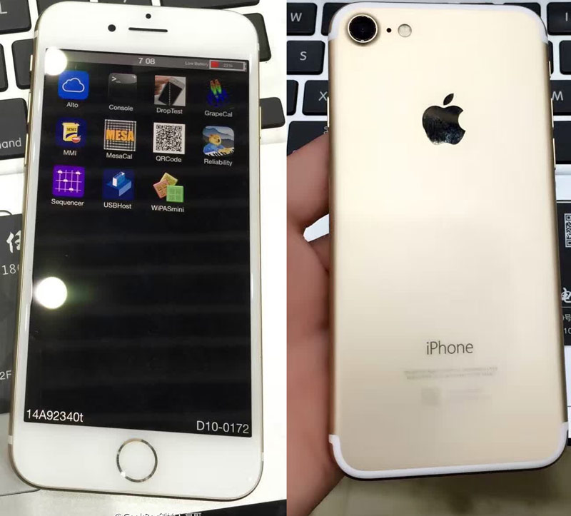 The Network got the first photos of a prototype iPhone 7 with the screen on