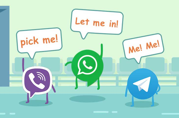 Telegram for the first time surpassed by popularity Viber users Yota