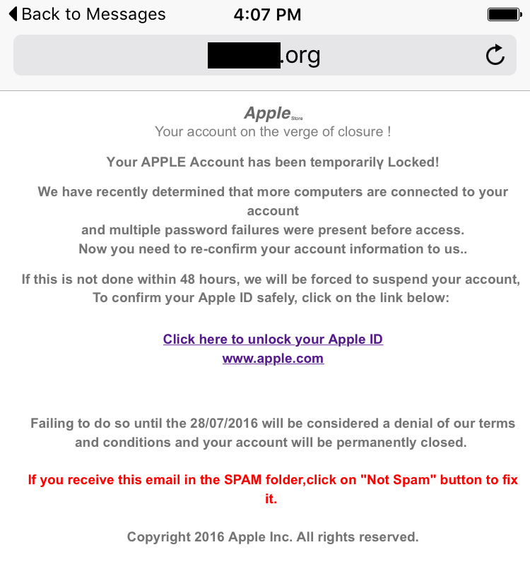 New SMS phishing attack aimed at stealing user credentials iPhone and iPad