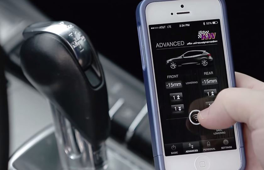 The Germans learned to understate the suspension of the Audi S8 with the iPhone