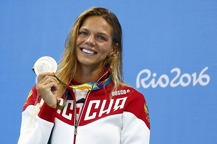 Russian swimmer Julia Yefimov will be awarded a gold iPhone 6s