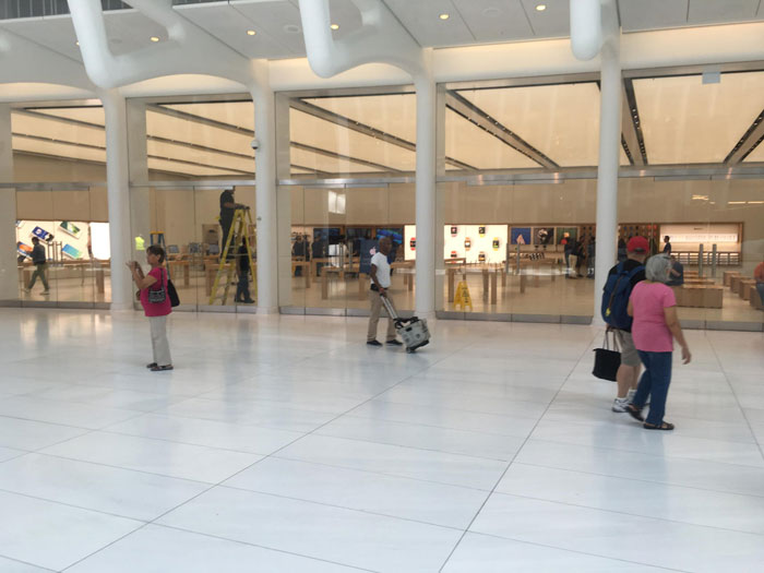 First look at the Apple Store in the new world trade center in new York [video]
