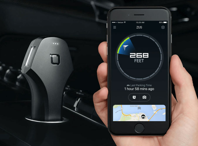 Car charger Nonda Zus will help locate your parked car
