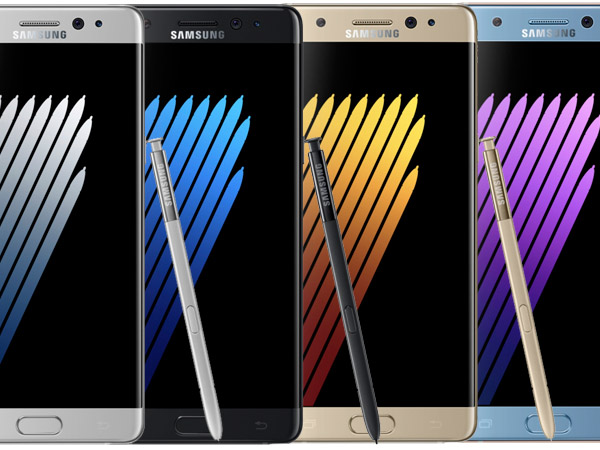 Samsung officially unveiled the Galaxy Note7 with curved screen, S Pen stylus and iris scanner
