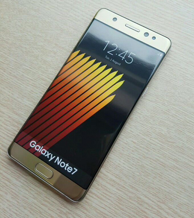 Pictures of Samsung Galaxy Note 7 and its packaging leaked a few hours before the official presentation