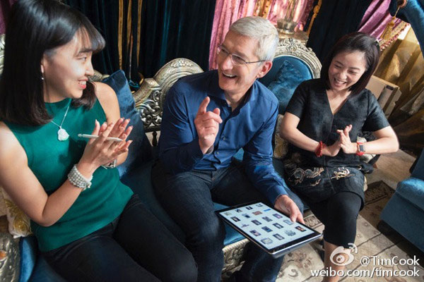 Tim cook meeting with Chinese authorities promised to open the country scientific research center of the Apple