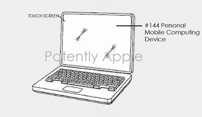 Apple patents MacBook with a touch screen