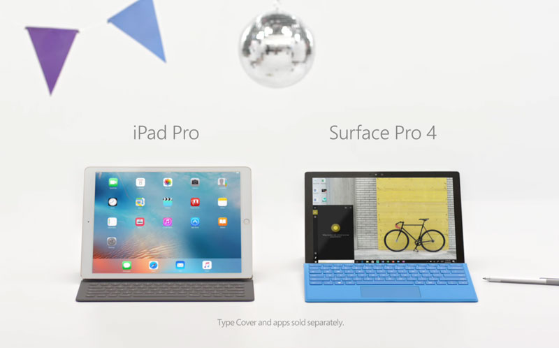 Microsoft's new advertising ridiculed the words of Apple about what the iPad Pro – a full-fledged computer [video]