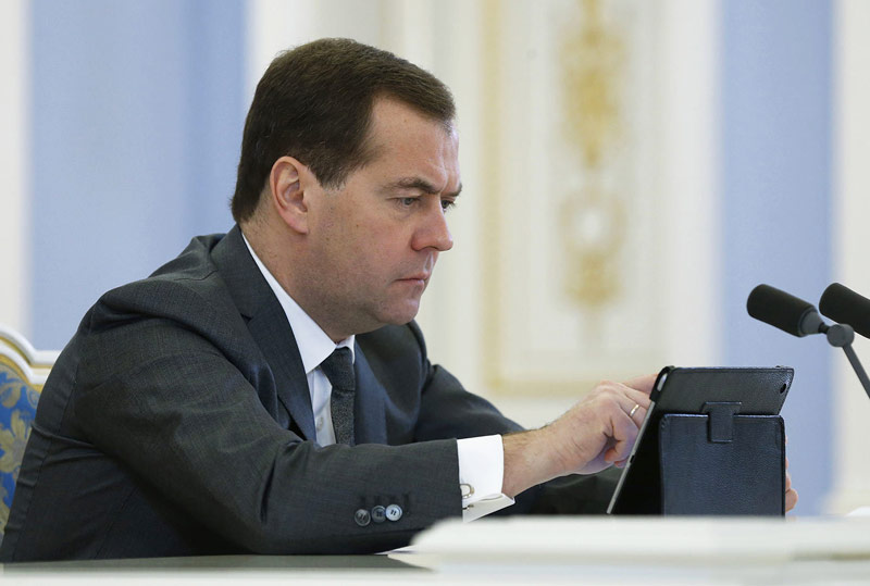 Dmitry Medvedev admitted that labour had mastered the computer