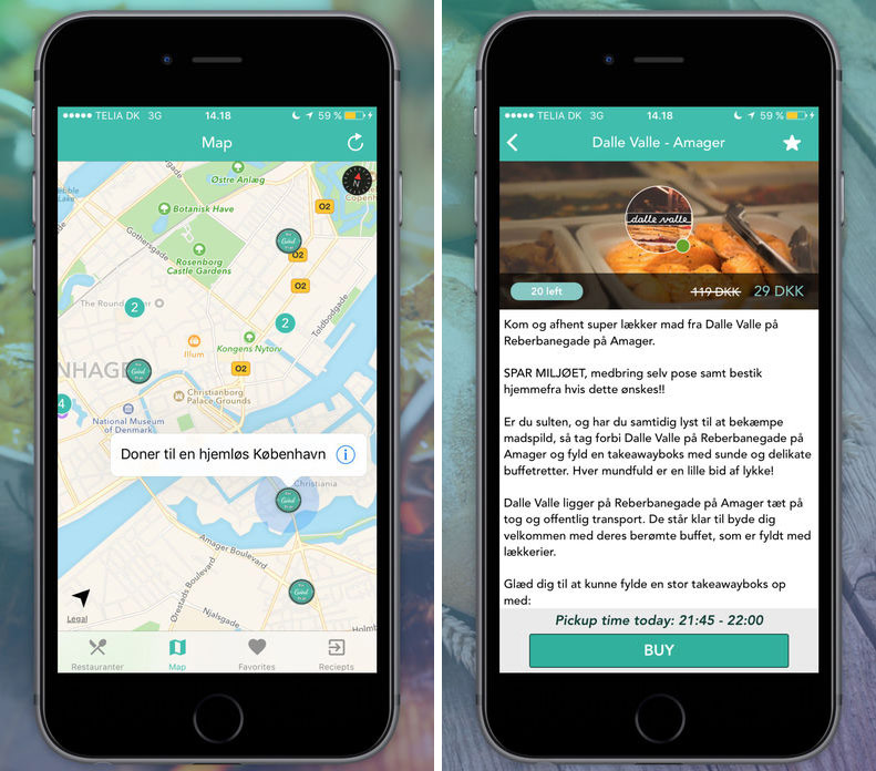 In the UK, has launched an app for ordering food from garbage cans
