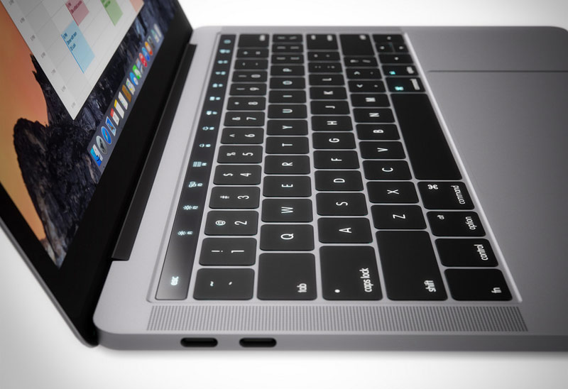The new MacBook will get the power button with the scanner Touch ID and touch OLED panel