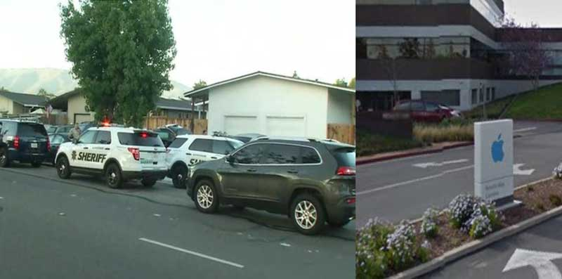 In Cupertino three unknown men tried to Rob the headquarters of Apple
