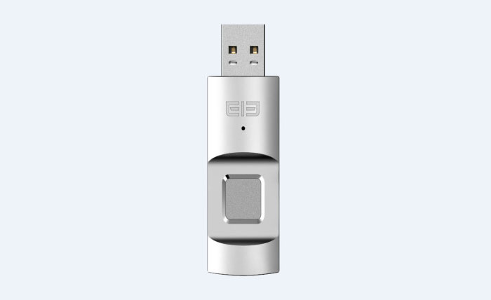 Elephone has introduced a flash drive with a built-in fingerprint scanner