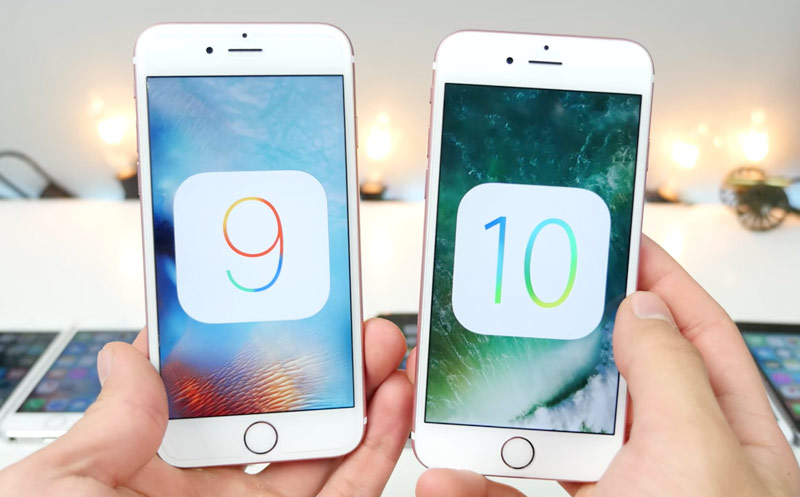 iOS 10 beta 4 vs iOS 9.3.3: comparison of performance on iPhone 6s, 6, 5s and 5 [video]