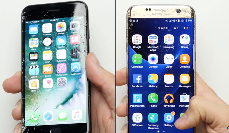 samsung galaxy s7 vs iphone 7 video