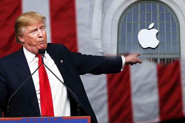 Donald trump has threatened to force Apple to move production of the iPhone from China to USA