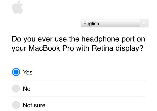 Apple conducts a survey among users about audio Jack in MacBook Pro