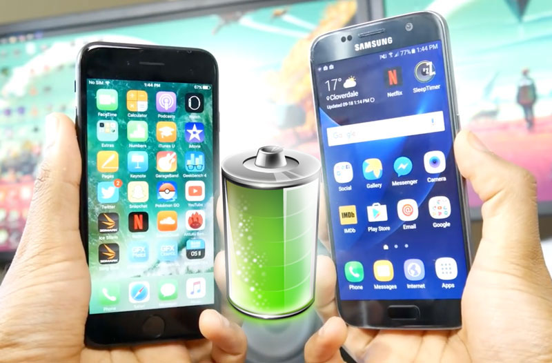 iPhone 7 vs Samsung Galaxy S7: one battery better