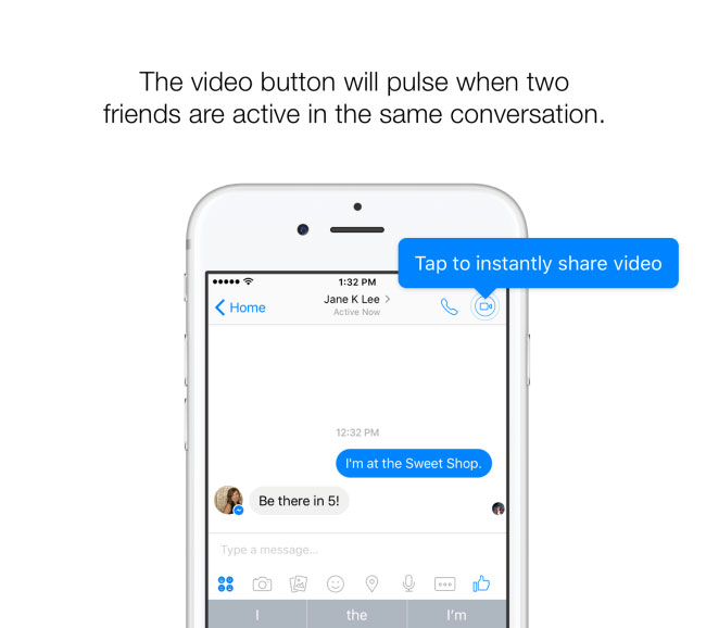 Facebook launched instant video messaging in Facebook Messenger