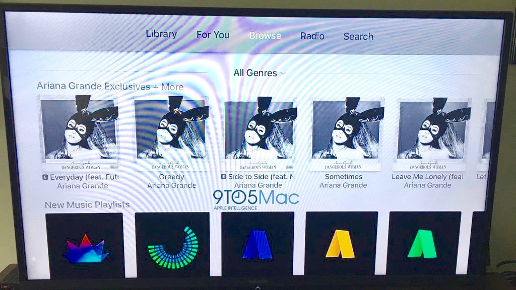 User Apple TV saw part of the new Apple Music