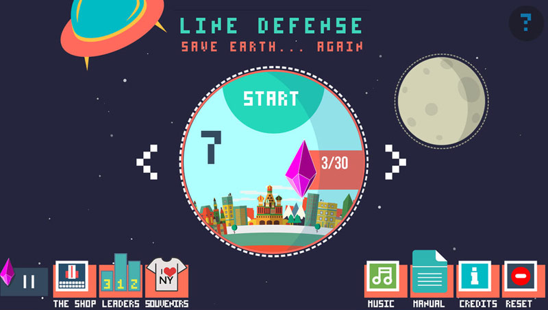 Line Defense – defend the planet from aliens