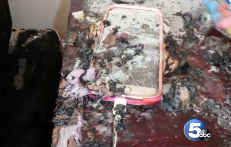 In the USA the Samsung Galaxy S7 edge exploded while charging [photos]